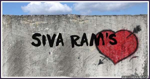Siva Ram's