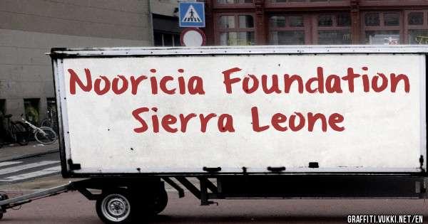 Nooricia Foundation Sierra Leone