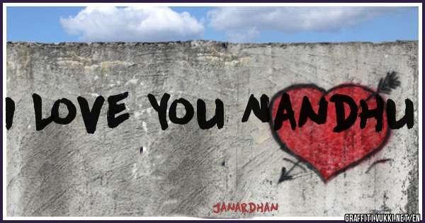I Love You Nandhu