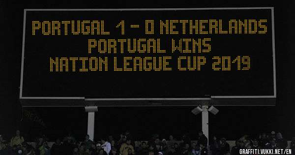 Portugal 1 - 0 Netherlands   Portugal wins  Nation League Cup 2019