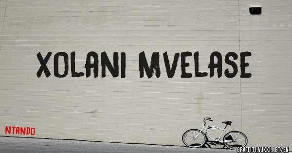 Xolani Mvelase