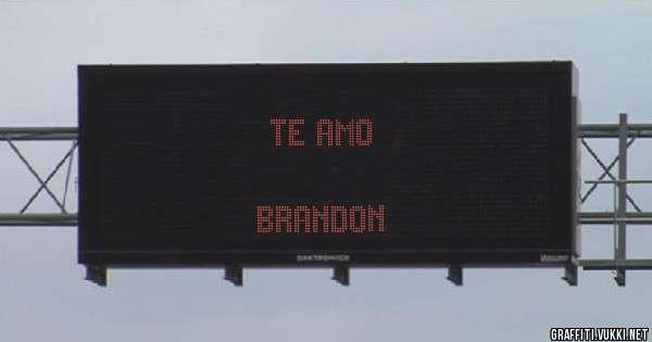 TE AMO                                                                     BRANDON