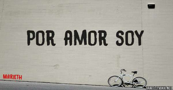 Por amor soy