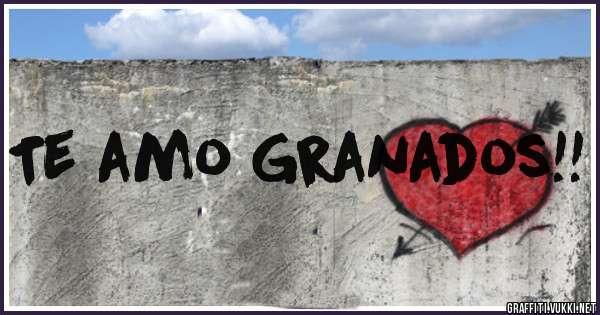 Te amo Granados!!