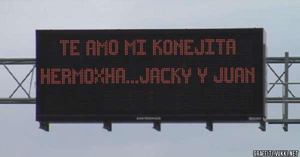 TE AMO MI KONEJITA HERMOXHA...JACKY y JUAN