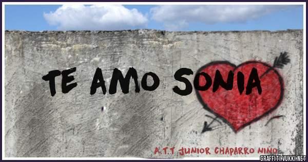 Te amo Sonia