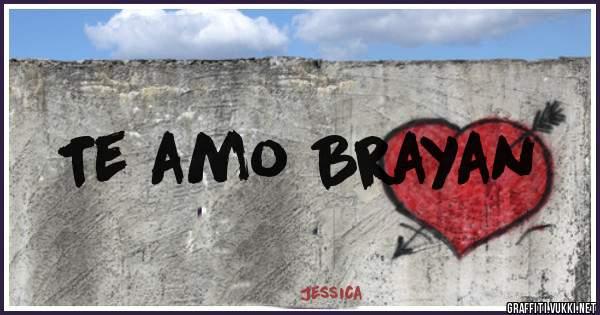 Te amo Brayan