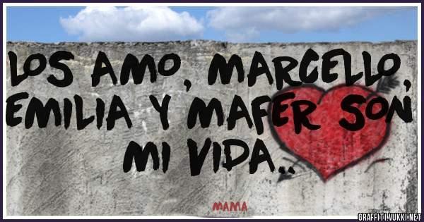 LOS AMO, MARCELLO, EMILIA Y MAFER SON MI VIDA..