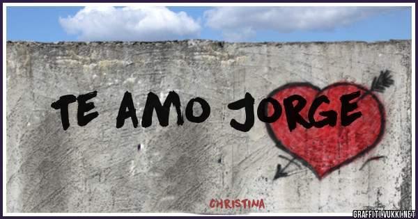 Te amo Jorge