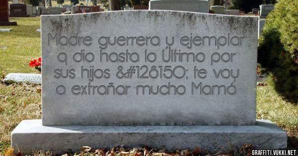 Madre guerrera y ejemplar q dio hasta lo Último por sus hijos 💖 te voy a extrañar mucho Mamá