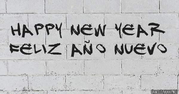 Happy New Year Feliz Año Nuevo