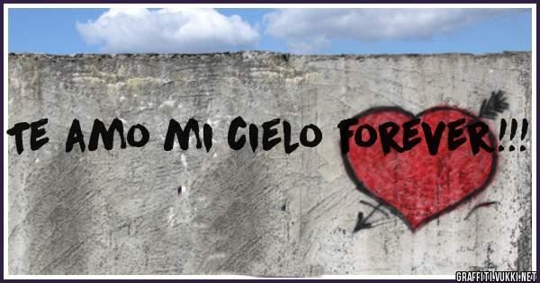 Te amo mi cielo forever!!!
